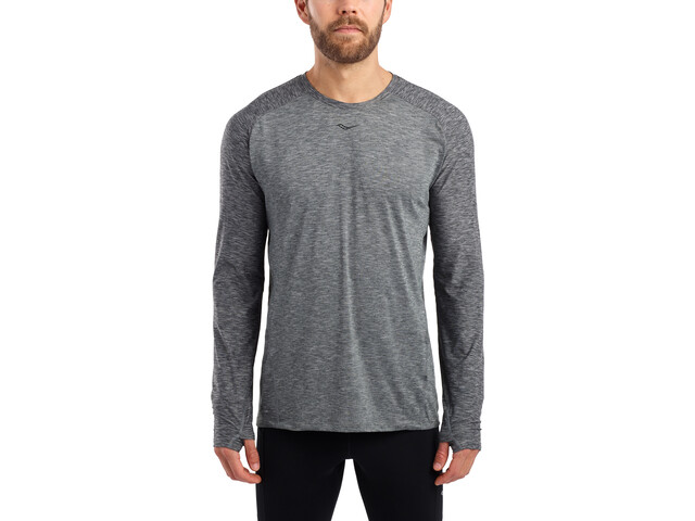 saucony Breakthru Long Sleeve Shirt Men dark grey heather